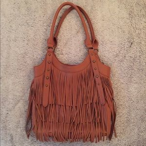 Handbags - NEW Brown Fringe Bag